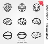 brain icons  brain icons vector ... | Shutterstock .eps vector #708389029