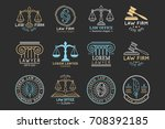 law office logotypes set with... | Shutterstock .eps vector #708392185