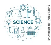 lettering of science concept... | Shutterstock .eps vector #708393541