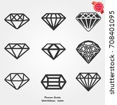diamond icons  diamond icons... | Shutterstock .eps vector #708401095