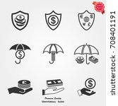 business insurance icons vector | Shutterstock .eps vector #708401191