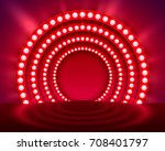 show light podium red... | Shutterstock .eps vector #708401797