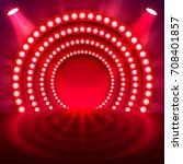 show light podium red...   Shutterstock .eps vector #708401857