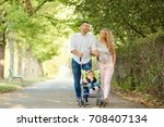 mother  father and baby in a...   Shutterstock . vector #708407134