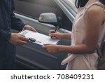 auto business  car sale ... | Shutterstock . vector #708409231