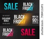 illustration of black friday... | Shutterstock .eps vector #708411691