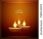 abstract elegant happy diwali... | Shutterstock .eps vector #708414055