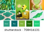 stylish collage with green... | Shutterstock . vector #708416131