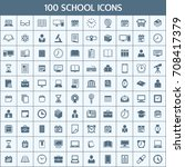 unique thin line icons set of... | Shutterstock .eps vector #708417379