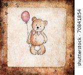 Cute Teddy Bear Holding Pink...
