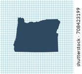 map of oregon   Shutterstock .eps vector #708423199