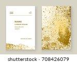 gold paint splash  splatter... | Shutterstock .eps vector #708426079