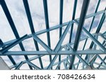structure of steel roof frame... | Shutterstock . vector #708426634