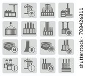 industry icon set vector | Shutterstock .eps vector #708426811