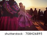 authentic peruvian dance | Shutterstock . vector #708426895