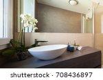 detail of elegant washbasin.  | Shutterstock . vector #708436897