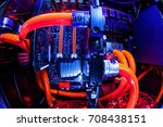 spectacular water cooling pc... | Shutterstock . vector #708438151