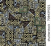 creative ethnic style square... | Shutterstock .eps vector #708439321