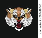 stylized head of a tiger. the... | Shutterstock .eps vector #708440845