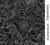 paisley. a pattern based on the ... | Shutterstock .eps vector #708440995