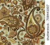 paisley. a pattern based on the ... | Shutterstock .eps vector #708441007