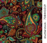 paisley. a pattern based on the ... | Shutterstock .eps vector #708441019