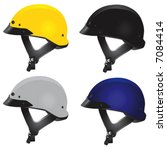 motorcycle helmet vector 2 (chopper type)
