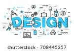 modern flat thin line design...   Shutterstock .eps vector #708445357