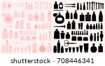 cosmetics silhouettes | Shutterstock .eps vector #708446341