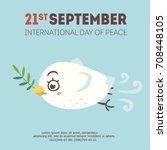vector cartoon style september... | Shutterstock .eps vector #708448105