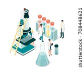 researchers in the laboratory ... | Shutterstock .eps vector #708448621