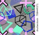 vector abstract geometric...   Shutterstock .eps vector #708449371