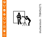 man photoshooting model icon | Shutterstock .eps vector #708456271