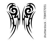 tattoo tribal vector design.... | Shutterstock .eps vector #708457051
