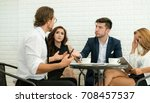 group of business people... | Shutterstock . vector #708457537