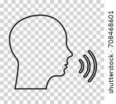 voice command icon. vector...   Shutterstock .eps vector #708468601