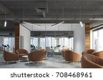 waiting area of an office with... | Shutterstock . vector #708468961