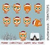 merry christmas and happy new... | Shutterstock .eps vector #708470191