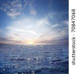Rising Sun On The Horizon Abov...