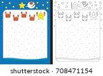 preschool worksheet for... | Shutterstock .eps vector #708471154