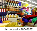 colorful textile fabric...