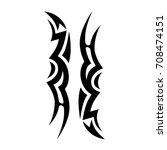 tribal tattoo art designs.... | Shutterstock .eps vector #708474151