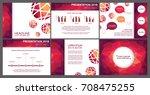 modern design slide templates....   Shutterstock .eps vector #708475255
