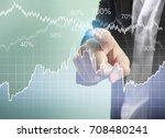 businessman with financial... | Shutterstock . vector #708480241
