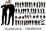 silhouette of men business ... | Shutterstock . vector #708484549