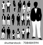 isolated people set  a... | Shutterstock . vector #708484594