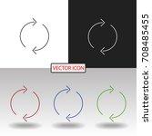 arrow icon | Shutterstock .eps vector #708485455