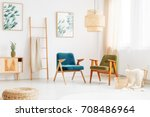 two vintage chairs in bright... | Shutterstock . vector #708486964