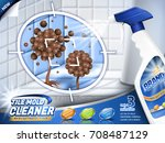 tile mold cleaner ads  spray... | Shutterstock .eps vector #708487129