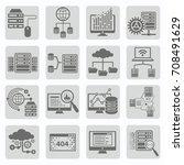 network icon set vector | Shutterstock .eps vector #708491629